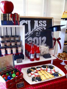 A creative design for a graduation party.You can tailor it to a highschool or college graduation, by using school mascots etc.