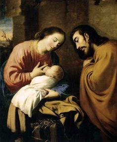 Francisco de Zurbaran: The Holy Family pintor español 1598+1664