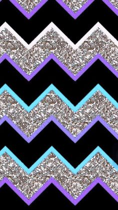 Purple teal grey glitter chevron