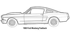 mustang 65 drawing - Buscar con Google