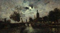 Johan Barthold Jongkind ドレトルヒトの月明かり