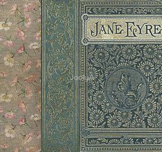 Jane Eyre Old Book Cover Design