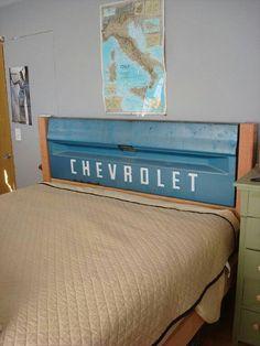 Home Decor Ideas Tailgate Headboard Perfect For A Little Boys Room