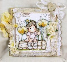 * Tinchy ustvarja *: Tilda's Town Challenge #70 - Use a Magnolia Background stamp