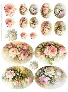Vintage rose printable labels (original source unknown)