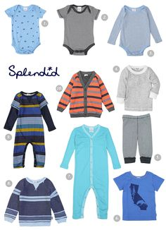 Baby boy clothes from Splendid | 100 Layer Cakelet  #OnlineShopping  #Shopping  #BabyClothes