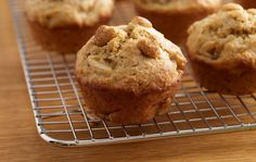 Hearty Banana Muffins Recipe-- swap for traditional Thanksgiving morning muffins. These are made from Kashi Heart to Heart® cereal. Tender and moist inside, crisp and toasty outside — yum! #KashiBetterRecipes