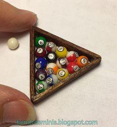Kendra's Minis: Tutorial - Billiard or Pool Balls and Triangle Rack