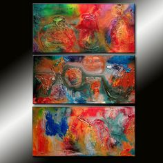 ORIGINAL Abstract Contemporary Art Modern by newwaveartgallery, $600.00