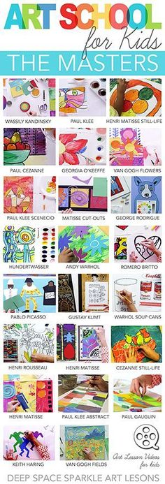 Need ideas for art time this fall?  Learn from the Masters with this amazing roundup of art and craft idea for kids in kindergarten through 2nd grade! Ideas to last all year long!