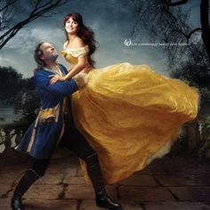 "Annie Leibovitz Photo, Penelope Cruz and Jeff Bridges appear as Belle and the transformed prince, recalling the final scene from Beauty and the Beast. The celebratory moment's tagline reads, ""Where a moment of beauty lasts forever."""