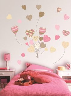The Wall decoration can give a new life to the home , giving a more vivid design to a room with white walls or also for neutral colors. Baby Bedroom, Bedroom Wall, Girls Bedroom, Bedroom Decor, Wall Decor, Wall Art, Interior Wallpaper, Room Paint, Girl Room