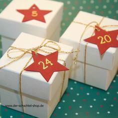 Adventskalender edel aus kleinen Schachteln