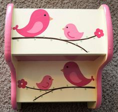 Birds and Branches Step Stool Children's by FrogsAndFairytales, $63.00