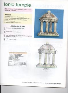 IONIC TEMPLE ORNAMENT OR MAGNET