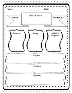 FREE Reading Graphic Organizer