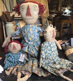 Ann, Anna, & Annie ~ sweet primitive dolls ♥ Tattered Edges FB