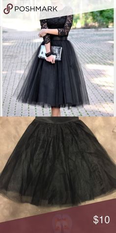 Black tool skirt Black tool skirt size L but can fit a medium as well Charlotte Russe Skirts Midi