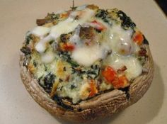 Spinach & Ricotta Stuffed Portobello Mushrooms Recipe. Try herbed cream cheese or boursin