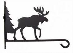 "10"" Moose w/Pine Tree Plant Hanger"