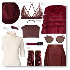 """""""Burgundy Goddess ;)"""" by chocolate-addicted-angel ❤ liked on Polyvore featuring Proenza Schouler, Aquazzura, Redopin, AINEA, Fleur of England, Christian Dior, Givenchy, NARS Cosmetics, Winter and burgundy"""