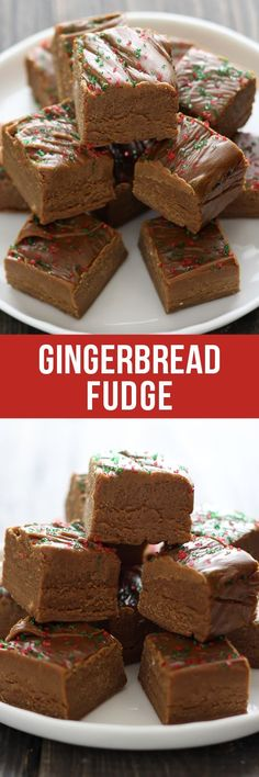 This easy homemade Gingerbread Fudge tastes like gingerbread cookie dough and requires no thermometer! Plus there's no marshmallows or condensed milk! (healthy no bake cookie dough) Fudge Recipes, Candy Recipes, Sweet Recipes, Baking Recipes, Holiday Recipes, Dessert Recipes, Winter Recipes, Christmas Cooking, Christmas Desserts