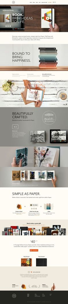Engaging #website #design for @moleskine that knows its audience and speaks fluently to them sharing their passion.