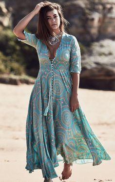 Jaase - Emerald Indiana Maxi Dress