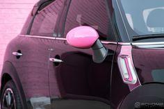 Mini Cooper Accessories, Pink Car Accessories, Mini Cooper Clubman, Mini Countryman, Clear Pink Nail Polish, Pink Mini Coopers, Mini Driver, Mini Copper, Mini Cooper Convertible