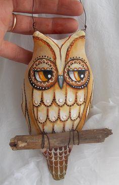 Folk Art Owl Ornament
