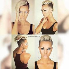 Amazing Short Side Haircuts for Young Ladies Short Side Haircut Short Sides Haircut, Side Haircut, Short Haircuts, Undercut Hairstyles, Funky Hairstyles, Hairstyles Pictures, Long Undercut, Undercut Pompadour, Disconnected Undercut