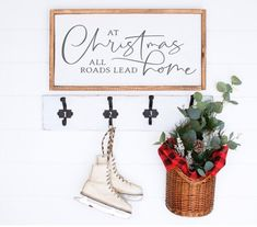 Hand crafted wooden Christmas sign perfect for any wall or surface in your home or office! Get into that Christmas feeling with the perfect addition to your holiday decor! At Christmas All Roads Lead Home Sign Christmas Shows, Merry Christmas To You, Christmas Feeling, Christmas Svg, Christmas Signs Wood, Christmas Decorations, Holiday Decor, Silent Night Holy Night, Jingle All The Way