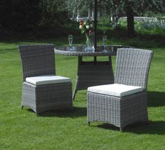 This is an amazingly hardwearing outdoor - indoor concentrating on polished stockpiling and styling living. At last, a gathering that will withstand the winter months as well as the summer. All apparatuses and fittings are produced using stainless steel to endure outdoor use. This pack of two seats are durable, gorgeous and extremely agreeable! #ebay #Garden #Wicker #Patio #Outdoor #Modern #Rattan #Chairs #Weave