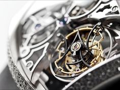 The Giga Tourbillon is a breathtaking timepiece featuring the biggest tourbillon in the world.