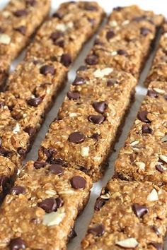 Granola Bars The BakerMama is part of Granola recipe bars - Just 5 ingredients and about 5 minutes is all it takes to make these chewy, crunchy, oh so tasty granola bars and you can make them with peanut butter or almond butter No baking required! Granola Barre, No Bake Granola Bars, Homemade Granola Bars, Granola Bites, Healthy Granola Bars, Snack Recipes, Dessert Recipes, Breakfast Bars, Breakfast Snacks
