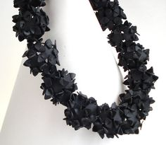 rubber necklace handmade with innertubes by bapseflaps on Etsy, $50.00