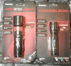 Set of 2 iProtec Tactical FlashLight Chameleon 100 Lumens Pro210Light 210 Lumens #iProtec