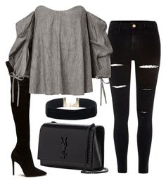 """""""Untitled #183"""" by a-del-c on Polyvore featuring River Island and Yves Saint Laurent"""