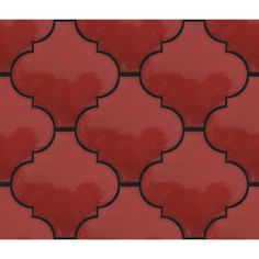 OW-Red Lantern Tile Lantern Tile, Red Lantern, Arabesque Tile, Red Tiles, Fireplace Surrounds, Modern Colors, Moorish, Handmade Design, Favorite Color