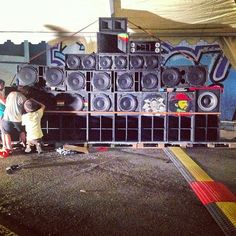 Ahora sí, #nyabinghi #dub full #soundsystem en #organicrootsfestival #dub #reggae