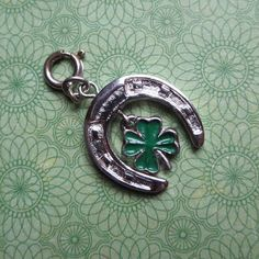 Vintage Monet Charm in Silvertone Double Charm by MiladyLinden