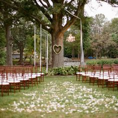Top 20 unique wedding backdrop ideas simple outdoor wedding a simple ceremony under a tree love the heart shaped wreath detail photo by abby jiu photography i like this but it would be my luck there would be a junglespirit Choice Image