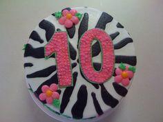 10th Birthday Cake Zebra