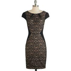 ModCloth LBD Mid-length Cap Sleeves Sheath Va-Va-Veranda Dress