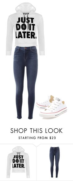 """Untitled #7"" by akosheba on Polyvore featuring WearAll, J Brand and Converse"