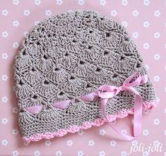 Crochet Pattern Central, Free Crochet Doily Patterns, Baby Knitting Patterns, Crochet Shawl, Crochet Baby Clothes, Crochet Baby Hats, Knitted Hats, Crochet Hat With Brim, Diy Crafts Crochet