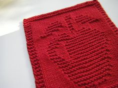 Knitted Apple Dishcloth