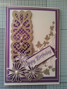 Sue Wilson striplet die Sue Wilson Dies, Diy And Crafts, Paper Crafts, Die Cut Cards, Crafters Companion, Card Making Techniques, Lace Border, Flower Cards, Die Cutting