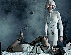 Crystal Renn stars as an abused asylum patient and Karolina Kurkova as her icy nurse captor.