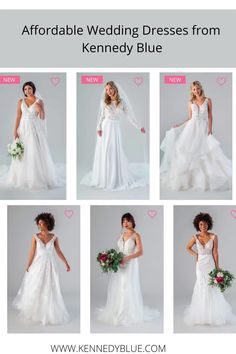Kennedy Blue offers stunning wedding dresses for half the price. These gowns are flattering on all body types and will make you feel your best on your special day! Shop today at www.kennedyblue.com. The dress pictured is in the style Carter and shade Ivory/Champagne | #affordableweddings | #affordableweddingdress | #wespiration | #weddinginspiration | #weddingdressideas | #trendyweddingdresses